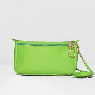 Сумка жен Кэрэл, 19*7*11см, отд на молнии, н/карман, с ручкой, длин ремень, зеленый