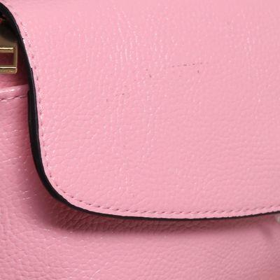 Сумка женская на клапане, 1 отдел, 2 наружных кармана, длинный ремень, цвет розовый