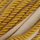 Шнур витой декоративный 8 мм с тесьмой № 4.7, 25 м