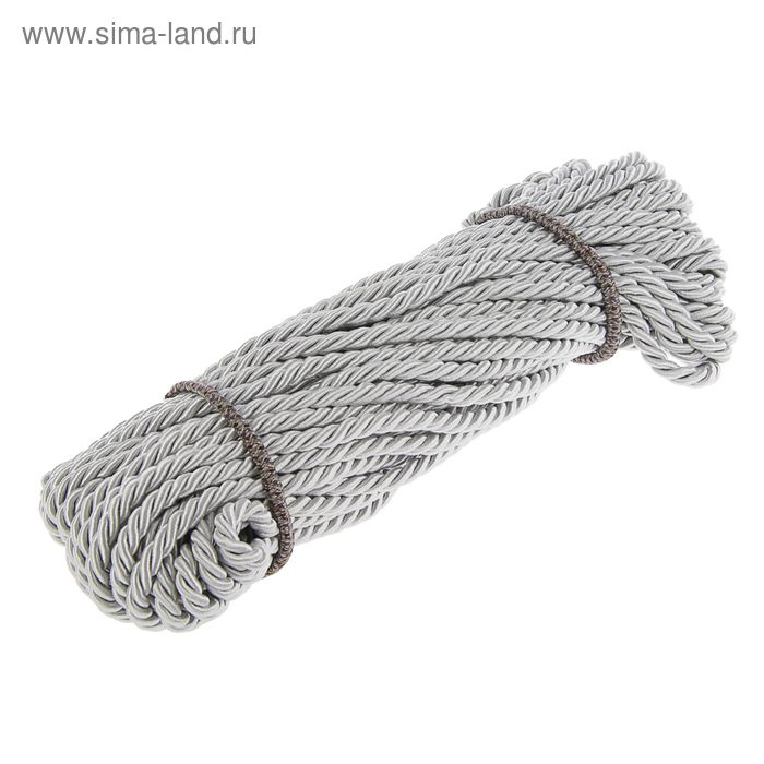 Шнур витой декоративный 10 мм без тесьмы №3.0, 25 м