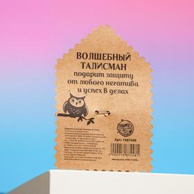 Открытка со значком «Талисман от сглаза», 2,9 х 3,7 см - фото 7470399