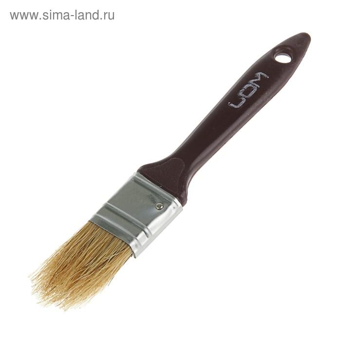 """Кисть плоская LOM, натуральная щетина, пластиковая ручка 1"""" (25 мм)"""