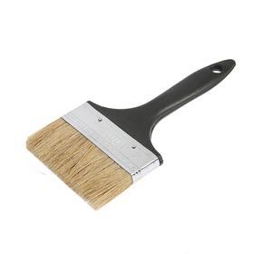 "LOM flat brush, natural bristle, plastic handle 4"" (100mm)"