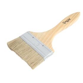 "The TUNDRA basic flat brush, mixed bristle, wooden handle 4"" (100mm)"