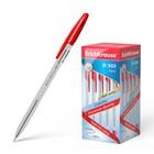 Ручка шариковая Erich Krause R-301 Classic Stick, узел 1.0 мм, чернила красные, длина линии письма 2000м, штрихкод на ручке