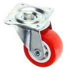 Колесо мебельное, d=40 мм, без тормоза, красное