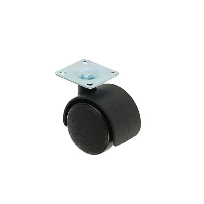 Колесо мебельное, d=40 мм, на площадке, без тормоза