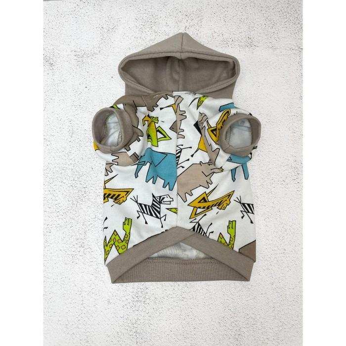 Футболка OSSO с капюшоном для собак, размер 28