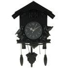 Часы настенные с кукушками черные 30*34см пластик