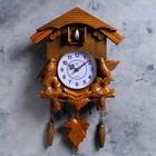 Часы настенные с кукушками, коричневые, 30х34 см