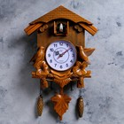 Wall clock, series: the Pendulum, the cuckoo, brown, 30х34 cm