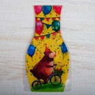 """Ваза для цветов с открыткой """"С днём рождения"""", 14,8 х 26,8 см"""