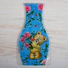 """Пакет для цветов (ваза) с открыткой """"Мишка"""""""