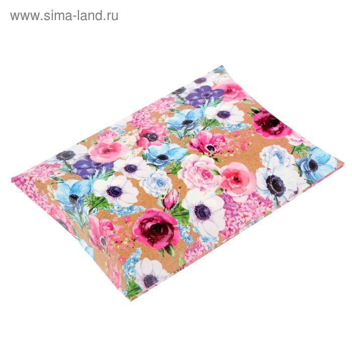 Складная коробка сборная фигурная «Цветочное настроение», 11 х 8 см