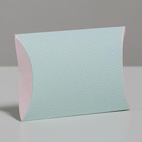 Коробка складная фигурная «Белый горошек», 11 × 8 × 2 см в Донецке