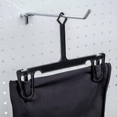 Вешалка для брюк и юбок L=21, (фасовка 10 шт), цвет чёрный