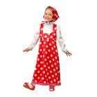 Карнавальный костюм «Маша», текстиль, размер 26 рост 104 см, цвет красный