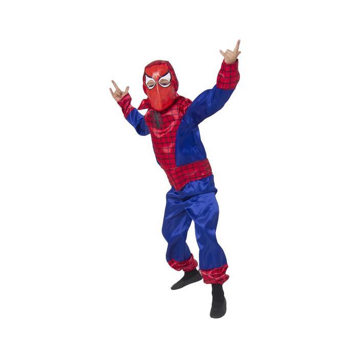 Карнавальный костюм «Человек-паук», текстиль, р. 34, рост 134 см - фото 898131