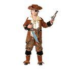 """Карнавальный костюм """"Капитан пиратов"""", бархат, парча, р-р 34, рост 128 см, цвет коричневый"""