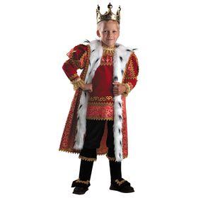 Детский карнавальный костюм «Король», (бархат, парча), размер 30, рост 116 см