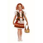 Карнавальный костюм «Красная Шапочка», (бархат, парча), размер 32, рост 122 см