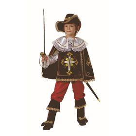 Карнавальный костюм «Мушкетёр короля», (бархат, парча), размер 38, рост 152 см, цвет бордовый