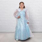 Детский карнавальный костюм «Снежная королева», парча, размер 34, рост 128 см