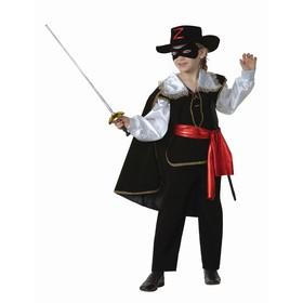 Zorro carnival costume, velvet, height 128 cm.