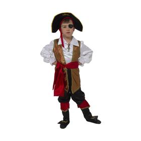 Карнавальный костюм «Капитан Флинт», текстиль, размер 30, рост 116 см