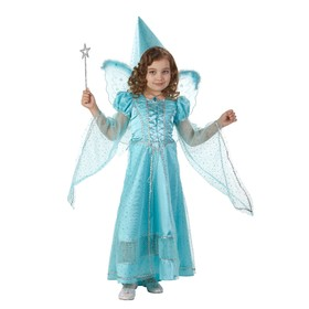 Карнавальный костюм «Сказочная фея», бархат, размер 34, рост 134 см, цвет голубой