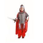 Карнавальный костюм «Богатырь», текстиль, размер 28, рост 110 см - фото 898167