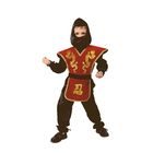 """Карнавальный костюм """"Ниндзя"""", текстиль, р-р 38, рост 152 см, цвет красный"""