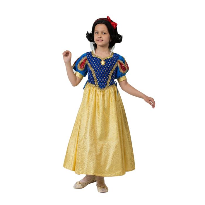 Карнавальный костюм «Принцесса Белоснежка», бархат, размер 30, рост 116 см - фото 1705242