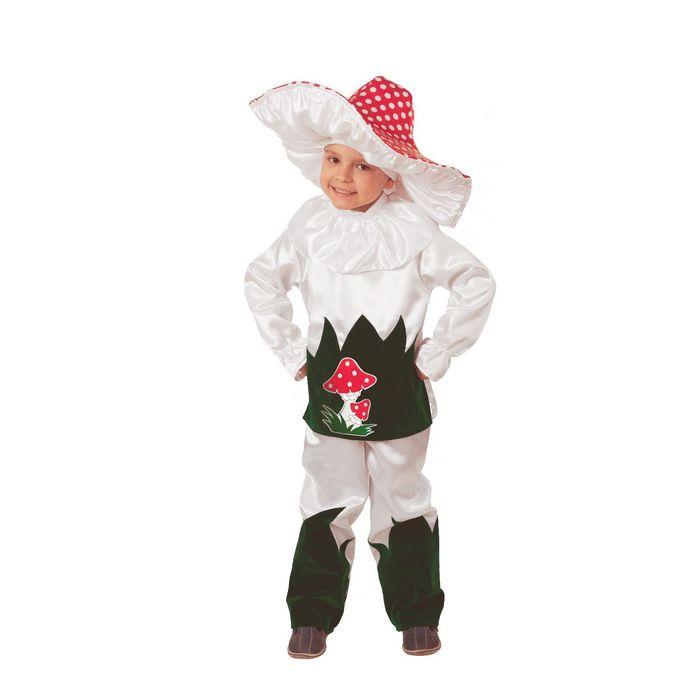Карнавальный костюм «Грибок», текстиль, (куртка, брюки, шляпа), размер 30, рост 116 см - фото 898204