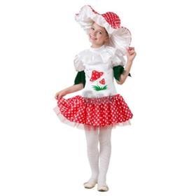 Карнавальный костюм «Грибок- девочка», текстиль, (платье, шапка), размер 28, рост 110 см