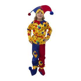 Карнавальный костюм «Петрушка», текстиль, р. 26, рост 104 см
