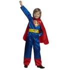 Карнавальный костюм «Супермен», размер 38, рост 152 см, цвет сине-красный