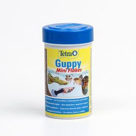 Корм TetraGuppy для рыб, для гуппи, мини-хлопья, 100 мл/30 гр