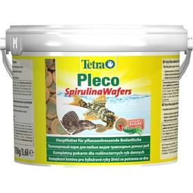 Корм TetraPlecoMulti SpirulinaWafers для травоядных донных  рыб, таблетки, ведро, 3,6 л.