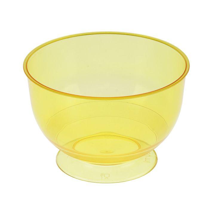 Креманка без крышки жёлтая, 200 мл