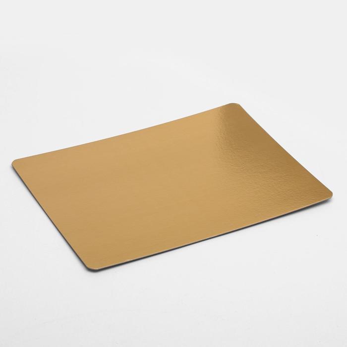 Подложка усиленная, 30 х 40 см, золото-жемчуг, 1,5 мм