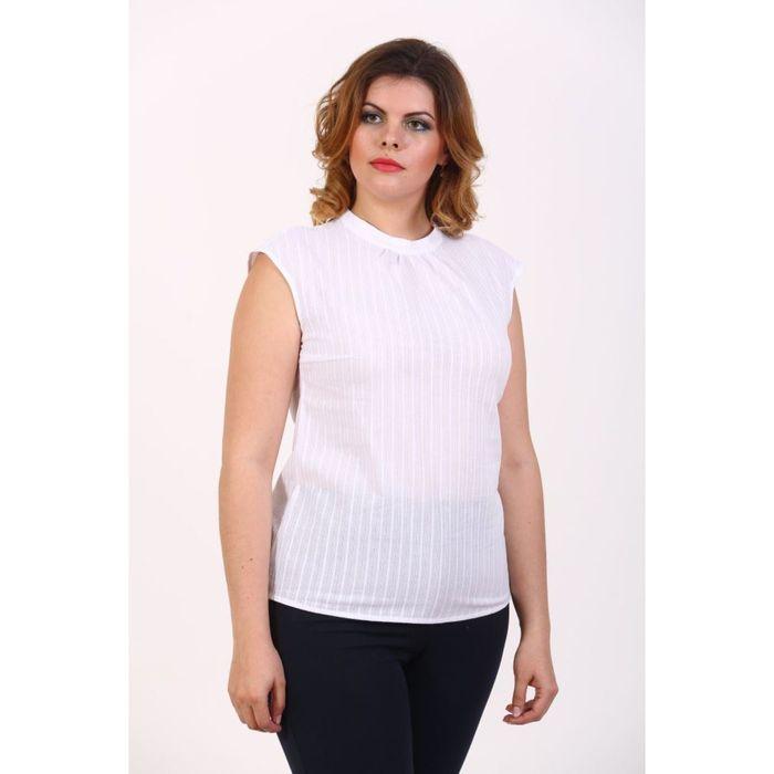 Блузка женская, размер 48, цвет белый 176В1023