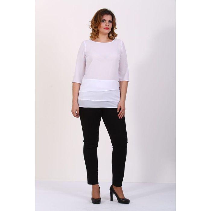 Блузка женская, размер 50, цвет белый 181В680