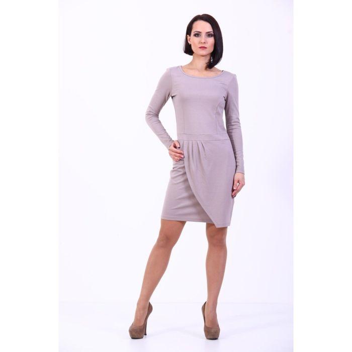 Платье женское, размер 48, цвет светло-кофейный 181Д306