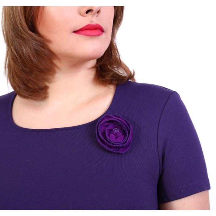 Платье женское, размер 54, цвет пыльный фиолет 199Д312