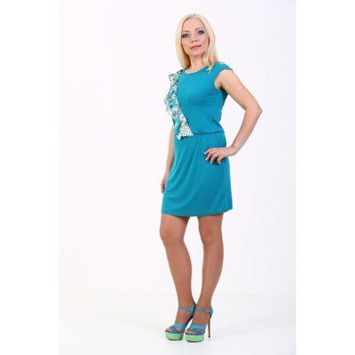 Платье женское, размер 48, цвет бирюза 100Д558