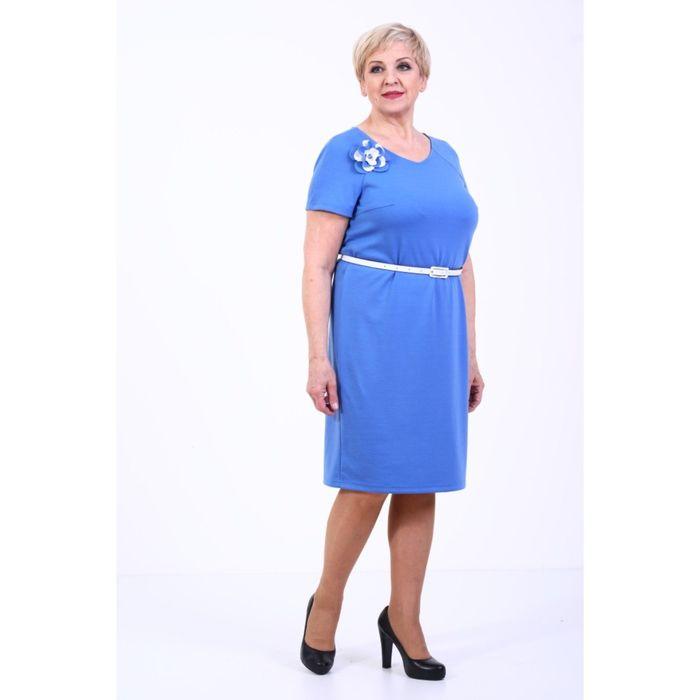 Платье женское, размер 56, ремень в комплекте 1091Д323