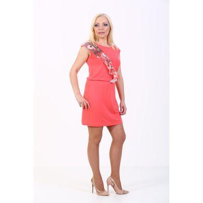 Платье женское, размер 48, цвет коралл 100Д558