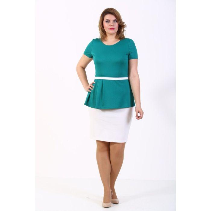 Блузка женская, размер 56, цвет зелёный 206В851