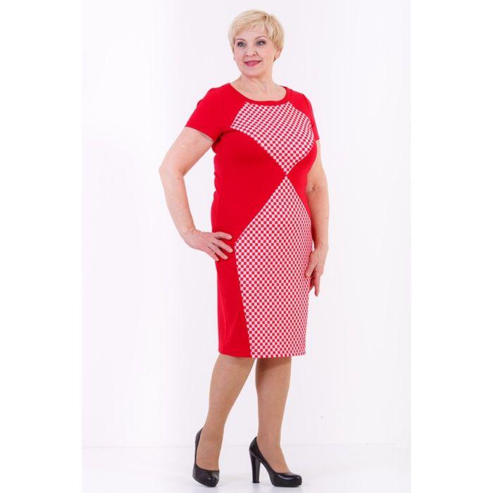 Платье женское, размер 42, цвет красный 432Д829
